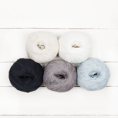 MillaMia Naturally Soft Cotton Ombre 5 Ball Color Pack