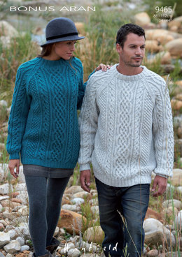 Sweaters in Hayfield Bonus Aran - 9465 - Downloadable PDF