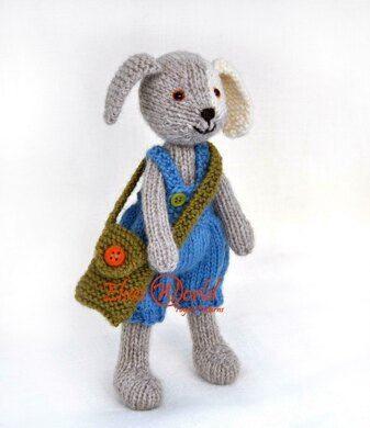 Sweet knitted puppy dog Buster