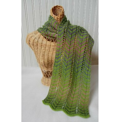 2e453544ecb52 Archer Lace Scarf Knitting pattern by Cheryl Andrews