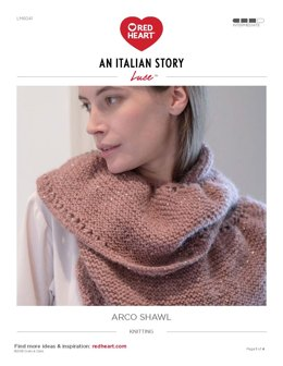 Arco Shawl in Red Heart Luce - LM6041 - Downloadable PDF