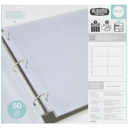 "We R Memory Keepers We R Ring Photo Sleeves 12""X12"" 50/Pkg - (6) 4""X6"" Pockets"