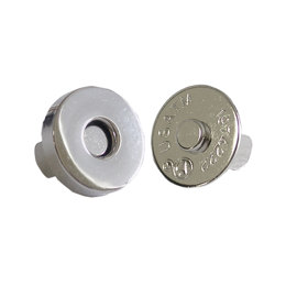 Silver Magnetic 18mm Snaps