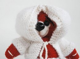 Winter Cherry Teddy bear with felted nose