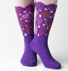 Circle Socks in Regia 4 Ply and 4 Ply Design Line by Kaffe Fassett - R0237 - Downloadable PDF