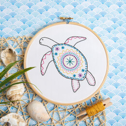 Hawthorn Handmade Turtle Contemporary Embroidery Kit