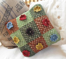 Flower power granny cushion