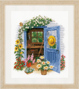 Vervaco Counted Cross Stitch Kit - My Garden Shed  (Aida) - 28cm x 32cm