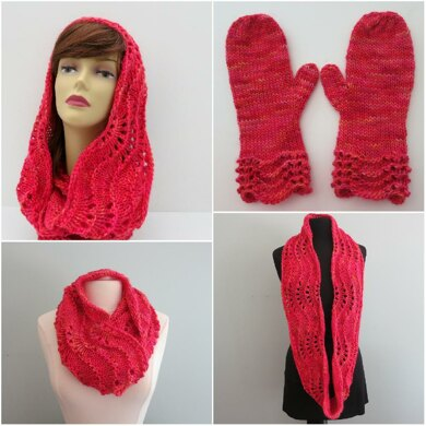 Lacy Cowl and Mittens