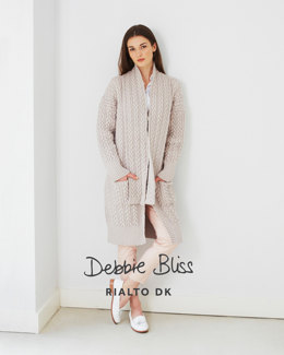 Long Cable Coat & Scarf in Debbie Bliss Rialto DK - DB030