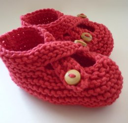 Brooke - Crossover Button Fastening Baby Shoes