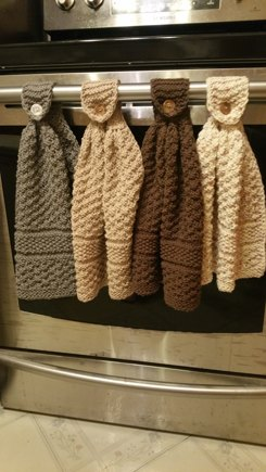 Knitted Hanging Kitchen Towels Knitting Project By Dixie S