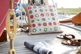 Linen Granny Square Pillows in Schachenmayr Catania - S9027C - Downloadable PDF