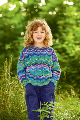 Child's Sweater in Schachenmayr Catania Color - S7370 - Downloadable PDF