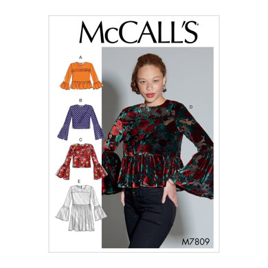 McCall's Misses' Tops M7809 - Sewing Pattern