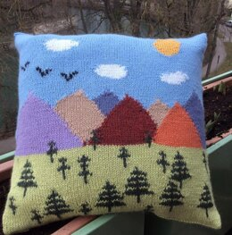 Trees and Mountains Cushion