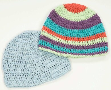 Crocheted Jeannee Worsted Chemo Caps in Plymouth Yarn Jeannee ... 150e49c7a69