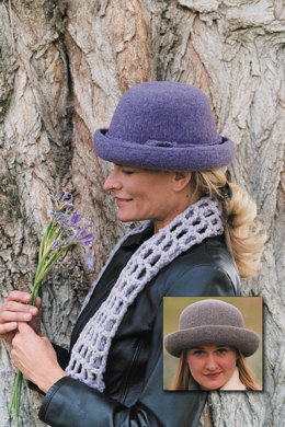 Town Hat in Imperial Yarn Native Twist - P102 - Downloadable PDF