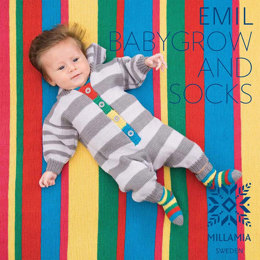 Emil Babygrow and Socks in MillaMia Naturally Soft Merino