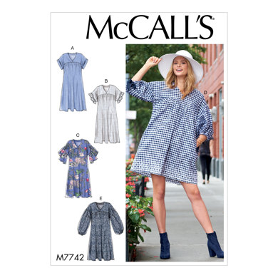 McCall's Misses' Dresses M7742 - Sewing Pattern