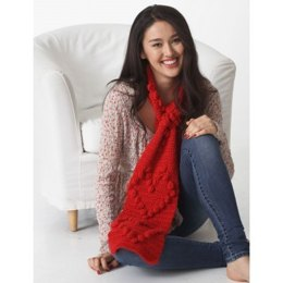 Valentine Heart Scarf in Bernat Satin