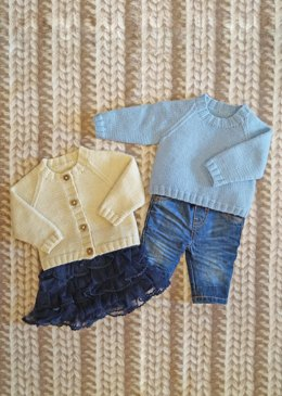 Franky & Frances - Unisex baby DK jumper and cardigan