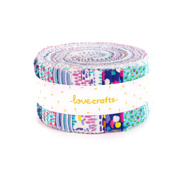 LoveCrafts Painterly Blooms Strip Roll