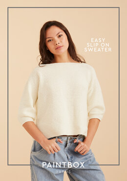 Easy Slip On Jumper - Free Crochet Pattern For Women in Paintbox Yarns Baby DK