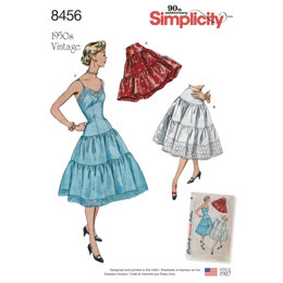 Simplicity 8456 Women's Vintage Petticoat and Slip - Sewing Pattern