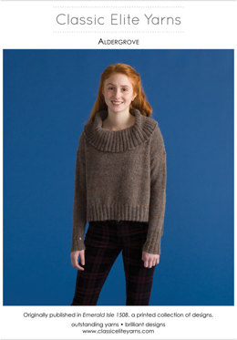 Aldergrove Pullover in Classic Elite Yarns Tiverton Tweed - Downloadable PDF