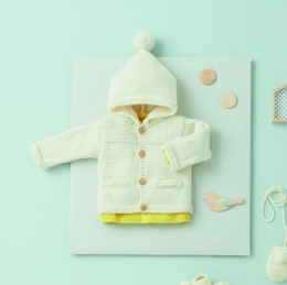Hooded Jacket in Phildar Merinos 6 - Downloadable PDF
