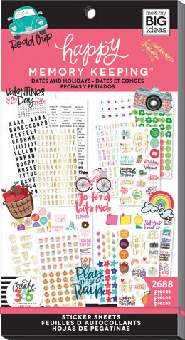Me & My Big Ideas Happy Memory Keeping Sticker Value Pack - Dates & Holidays, 2688/Pkg