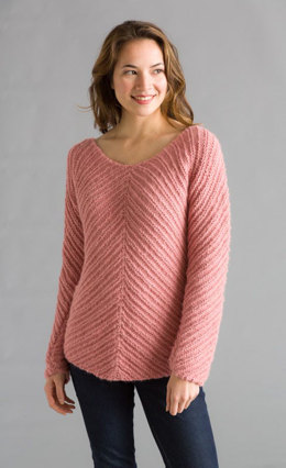 Bias Knit Pullover in Classic Elite Yarns Chateau