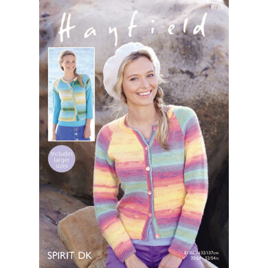 Cardigans in Hayfield Spirit DK - 8115 - Downloadable PDF