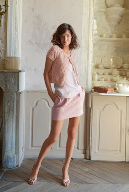 Short Sleeve Cardigan in Bergere de France Cabourg - 28 - Downloadable PDF