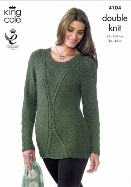 Sweater And Tunic in King Cole Baby Alpaca DK - 4104