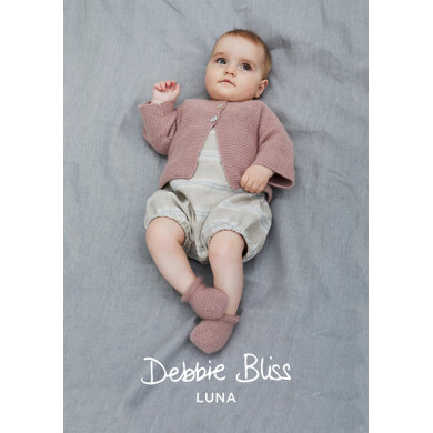Carina Jacket & Bootees in Debbie Bliss Luna - DB231 - Downloadable PDF