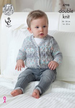 Cardigans & Waistcoats in King Cole Drifter For Baby - 4798