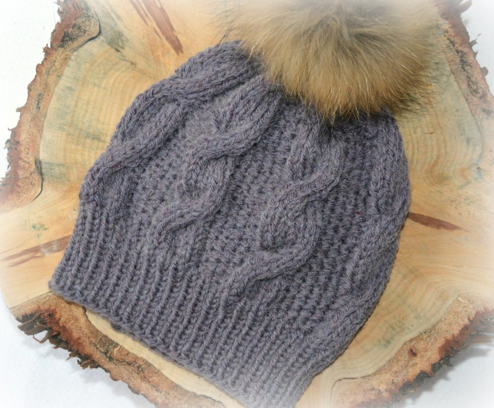 Womens Chunky Cable Bobble Hat KPWP08 Knitting pattern by ...