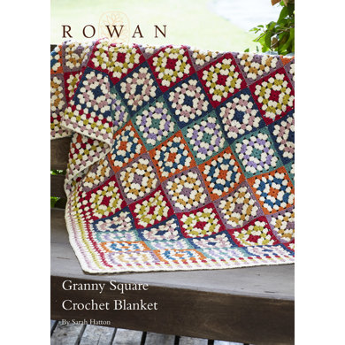 Granny Square Crochet Blanket in Rowan Pure Wool Worsted
