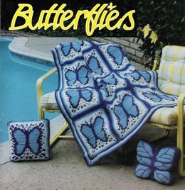 Butterflies Afghan and Accessories