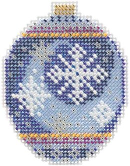 Mill Hill Midnight Snowfall Ornament Cross Stitch Kit - Multi
