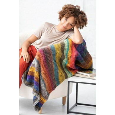 Egg Harbour Afghan in Lion Brand Mandala Thick & Quick - L80198 - Downloadable PDF