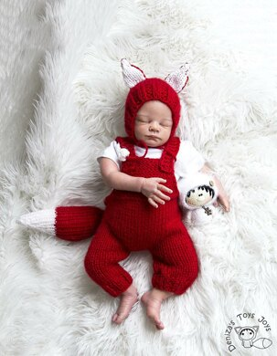 Fox baby romper and hat
