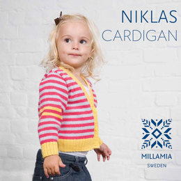 Niklas Cardigan in MillaMia Naturally Soft Merino - Downloadable PDF