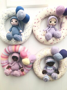 Welcome New Baby Wreath