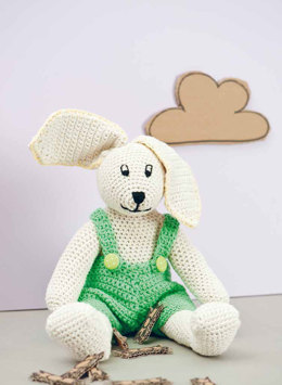 Lenny The Bunny in Rico Creative Cotton Aran