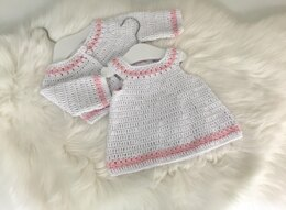 Baby Dress & Cardigan Set N 400
