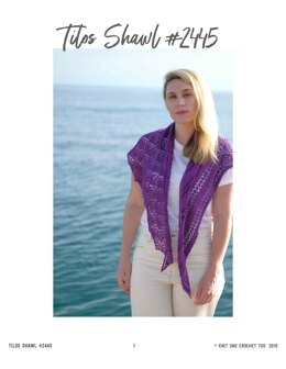 Tilos Shawl in Knit One Crochet Too Daisy - 2445 - Downloadable PDF