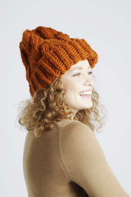 Moonhead Beanie in Wool and the Gang Crazy Sexy Wool - Leaflet